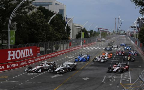 Sights from the  Honda Indy Toronto Verizon IndyCar Series event on the 1.786-mile Streets of Toronto's Exhibition Place, Sunday July 16, 2017.