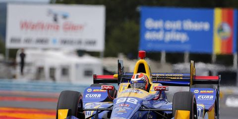 Alexander Rossi won his first career pole Saturday.