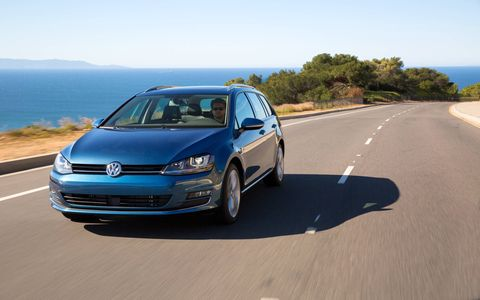 The 2015 Golf SportWagen is treated to the same sharpened lines and updated proportions as the other seventh-generation Golf models.