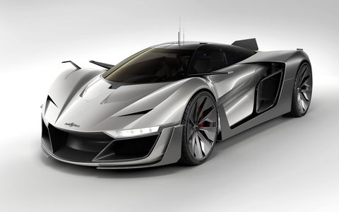"""Is it a super-sleek concept car, or a family of watches? Actually, the Bell & Ross AeroGT is both. To arrive at the BR 03-94 AeroGT large-date chronograph, Bruno """"Bell"""" Belamic of Bell & Ross created the aerospace-inspired AeroGT concept car, which in turn inspired the watch you see above."""