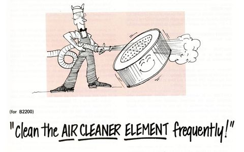 Clean the air cleaner element frequently!