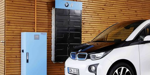 Check out the BMW i3's new battery storage system.