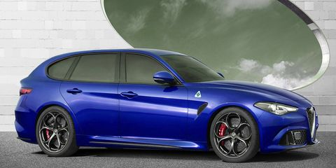 Our rendering of a future Giulia wagon, expected to go on sale in Europe by late 2017.