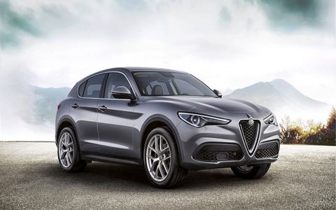 The Stelvio is going on sale in Europe right now, which gets all the nice things first.