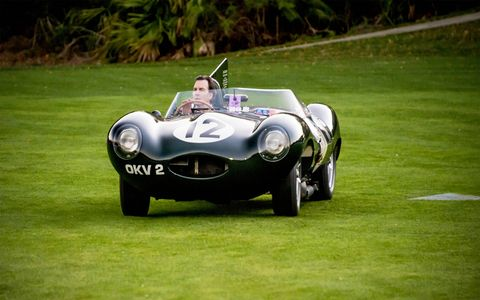 the 2017 edition of amelia island concours celebrated the jaguar d type's third consecutive victory at le mans
