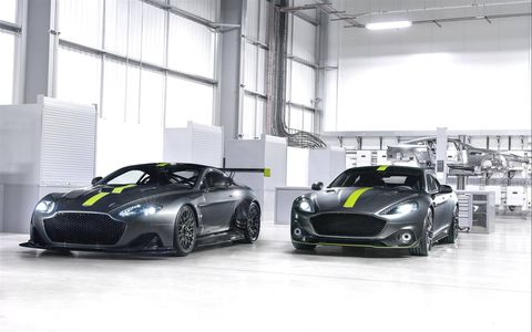 Aston Martin introduced its AMR range of high-performance vehicles at the Geneva auto show.