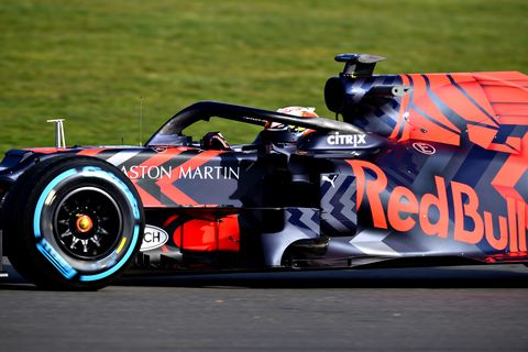 Red Bull Racing took its 2019 RB15 out for a filming day session at Silverstone.