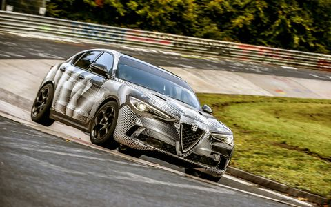 The 2018 Alfa Romeo Stelvio set the production SUV lap record around the Nurburgring.