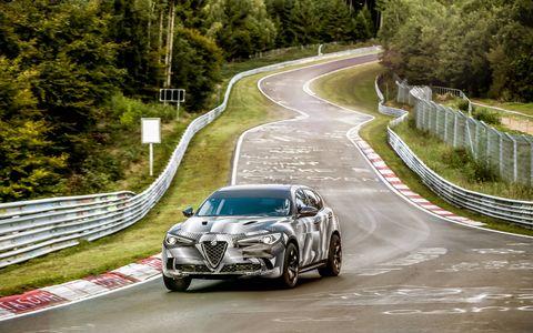 The 2018 Alfa Romeo Stelvio set the production SUV lap record around the Nurburgring.