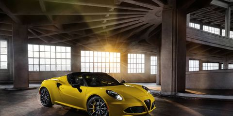 Alfa Romeo 4C Spider revealed at the 2015 North American International Auto Show.