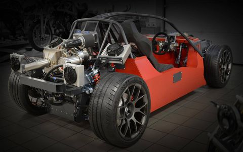 The Ariel HIPERCAR's design isn't finalized yet, but Ariel says it will be much more enclosed than both the Atom and Nomad.