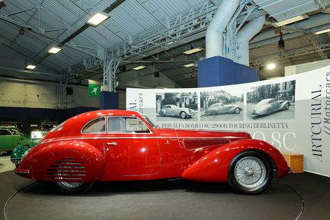 The flagship of the Artcuriel auction this year was this 1939 Alfa Romeo 8C 2900B Touring Berlinetta. It was expected to sell for between $18 million and $25 million.
