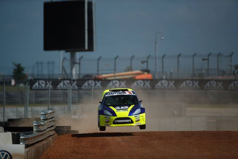 Action from Saturday's Dirtfish Americas Rallycross race at Circuit of the Americas in Austin, Texas.