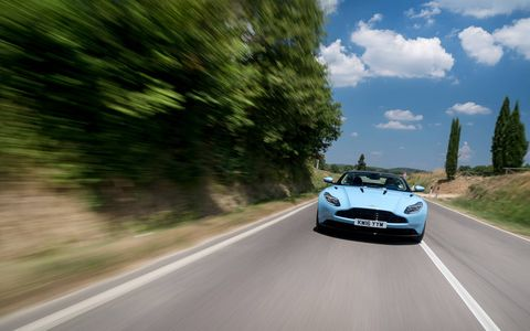 We drive the 2017 DB11, Aston Martin's latest grand tourer. With a sculpted body, stunning interior and 5.2-liter twin-turbocharged V12 up front, the DB11 is thrilling from any angle -- and from behind the wheel