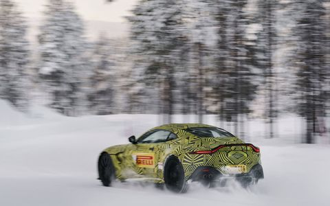 The Aston Martin Vantage returns for 2019 with an AMG engine, luxe appointments and aggressive styling.