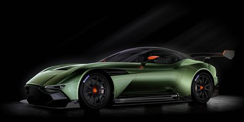 The track-only Aston Martin Vulcan is set to debut at the Geneva auto show.
