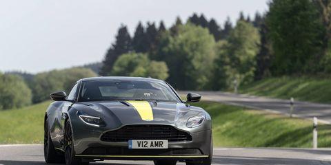 The 2018 Aston Martin DB11 AMR's 5.2-liter V12 makes 630 hp, 30 hp more than the outgoing DB11 V12.