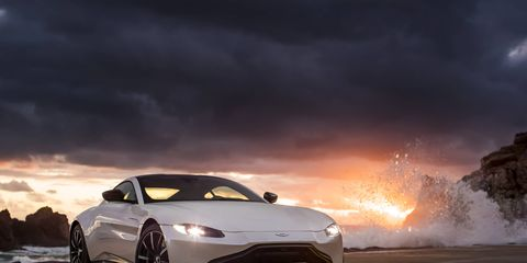 The 2019 Aston Martin Vantage's 4.0-liter twin-turbo V8 churns out 503 hp and 505 lb-ft.