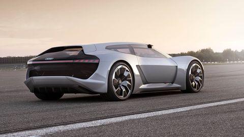 The Audi PB 18 e-tron concept hints at a possible all-electric R8 successor.