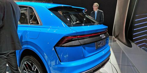 Audi lifted the curtain off of its Q8 concept at the Detroit auto show.