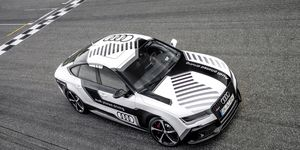 The RS 7 Piloted Driving Concept uses GPS technology and 3D cameras to orient itself on the track.