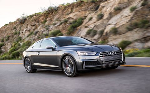 """Audi says its new 2018 S4 sedan and S5 coupe are """"the perfect balance of performance and design."""" Both are powered by an all-new 3.0-liter turbo V6 making  354 hp and 369 lb ft of torque. Prices range from the low 50s to over 60."""