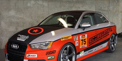 The Audi S3 will be racing next year.