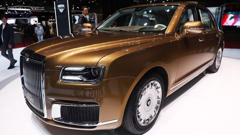Aurus brought its sedan and limo to Geneva for their global auto show debut.