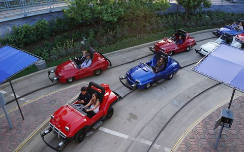 Remember the Autopia ride at Disneyland? The cars all have new paint and new engines from Honda. Still fun for young and old alike!