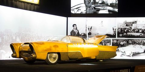 """Jim """"Street"""" Skonzakes' legendary custom car sells for $350,000 at the Mecum Spring Classic auction in Indianapolis."""