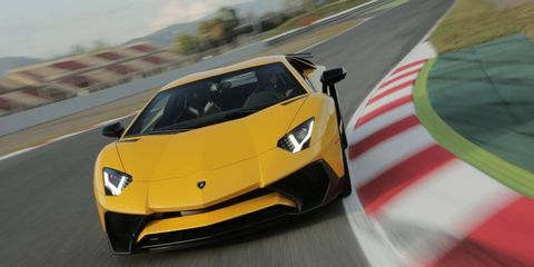 The 740-hp Lamborghini Aventador SV is on sale now featuring a 6.5-liter V12, all-wheel drive and an F1-style pushrod suspension. Different drive modes both tighten and soften things up, on and off the track.