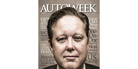 NASCAR chairman and CEO Brian France says the sport is listening to its fans and the numbers seem to show new initiatives are working.