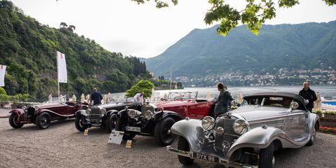 Eclectic cars and eclectic folks make up the crowd of beautiful things along the shores of Lake Como.