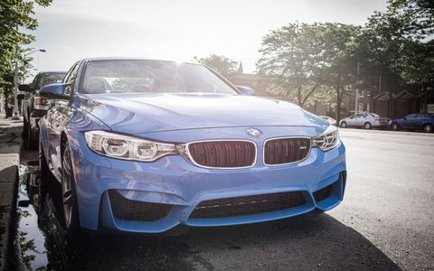 The exterior of the 2015 BMW M3 is purposefully aggressive and we love it.