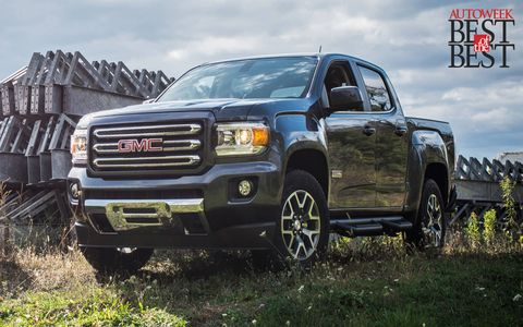 The GMC Canyon was selected over its Chevy Colorado sibling partly based on its more refined, stylized exterior lines.