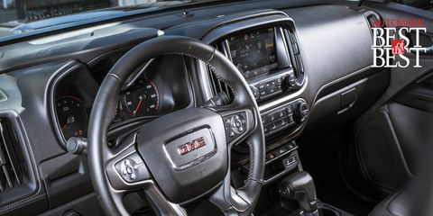 Inside, the 2015 Canyon delivers great comfort and convenience features in a manageable size.