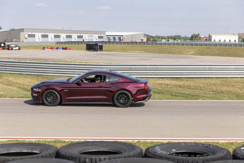 This 2018 Ford Mustang GT came with a 460-hp, 420-lb-ft V8 and a six-speed manual, good for a 0-60 time of less than four seconds.