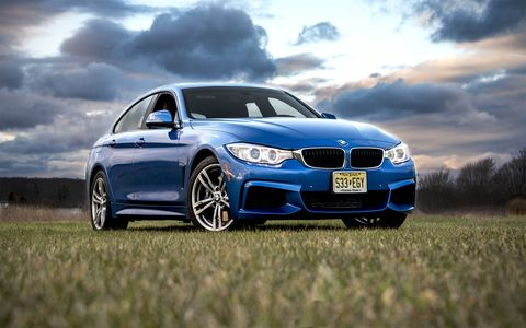 The 2015 BMW 428i Gran Coupe is based on the 3-series and 4-series platform, and features a liftback hatch.