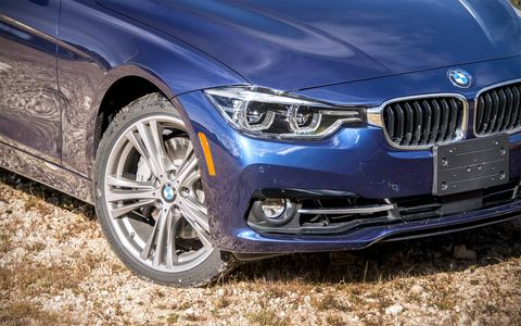 The BMW 340i starts at $46,795, while the xDrive version of the sedan starts at $49,795.