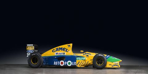 This 1991 3.5-liter Benetton-Cosworth Ford B191 was the car Nelson Piquet drove to a win in the Canadian GP in Montreal.