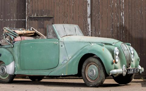This 1950 Lagonda 2.6-Litre Drophead Coupe  has been estimate to bring between $16,000 and $21,000 on auction day.