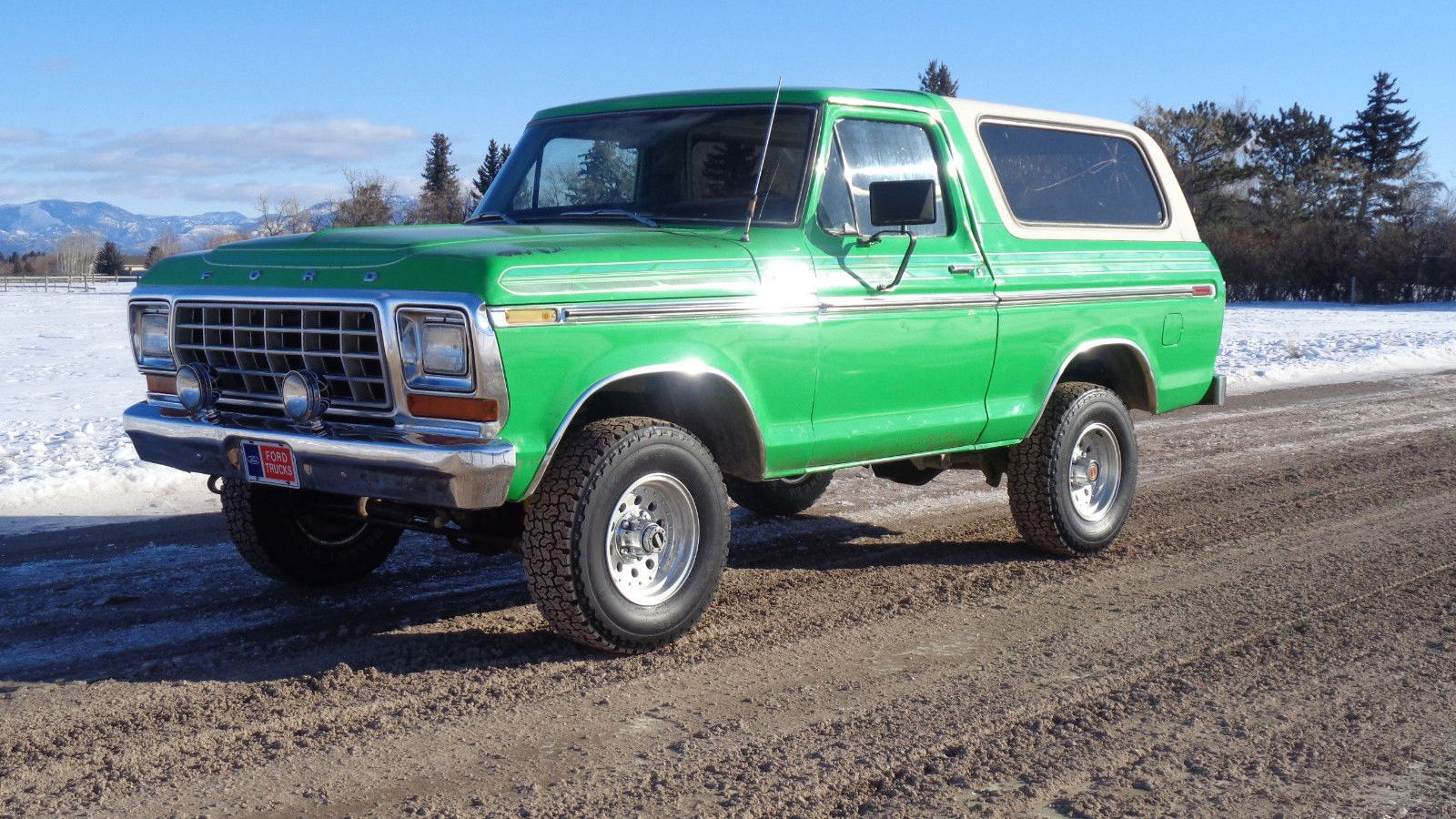 Burly Bronco This Very Green 1979 Ford Needs A New Home