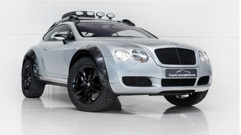 This 2004 Bentley Continental GT has been modified to be more trail-friendly than the Bentayga and the Cullinan combined, with their street tires.