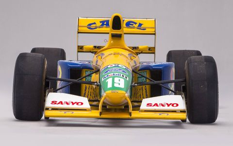 This 1991-1992 Benetton-Ford B191/191B Formula 1 car is headed to auction in Monaco.