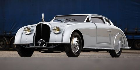The C28 Aerosport was one of the last grand voitures ever made by eclectic car and airplane makers Freres Voisin. It so elegantly sublime and so rich in detail and innovation that you may miss something if you only look at it for an hour or two. We recommend you stay both days of the auction and ogle.