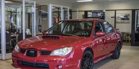 One of the modified Impreza WRX sold on eBay for almost $70K.