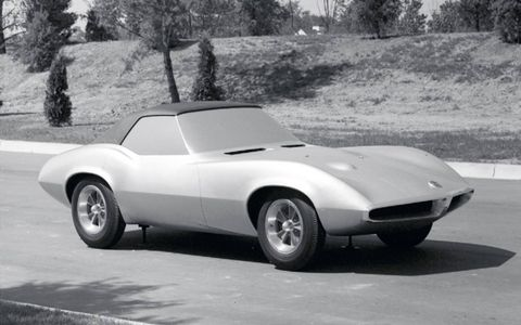 Pontiac borrowed the styling from the Corvette Mako Sharp concept and one other concept car.