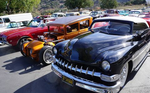 George Barris was memorialized by family and friends on Saturday, but one of the nicest tributes was the parking lot at Forest Lawn, which was a rolling tribute to the custom art to which Barris had dedicated his life.