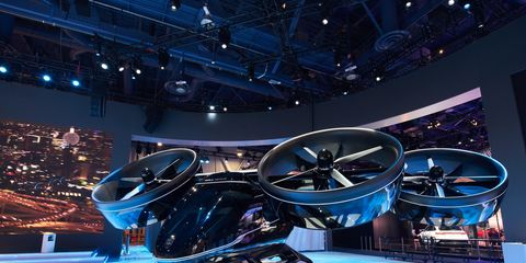 The Bell Nexus ducted-fan air taxi, coming - maybe - in 2023. It seats five, including the pilot, and will fly up to 150 miles at up to 150 mph.