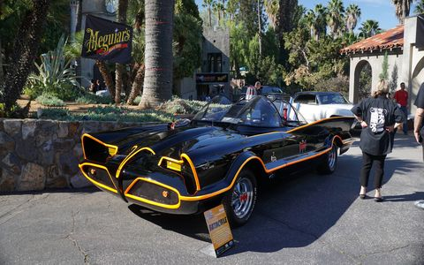 The Barris family brought a Batmobile. Last year George Barris attended himself.
